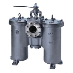 Round Cover H‐type DUPLEX OIL STRAINER