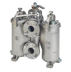 U-turn H-type DUPLEX OIL STRAINER